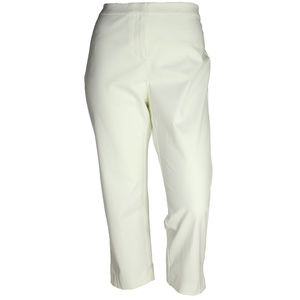 18w White Classic Fit Capri Pants NEW w/ tags